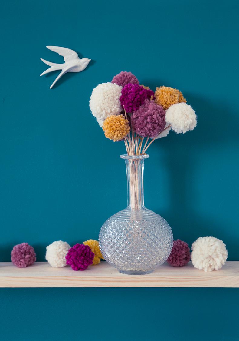 Deco Pompons En Laine bloom pompon ♥ – mamie boude
